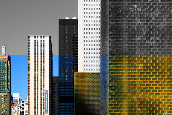 Building Blocks Cityscape Art Print
