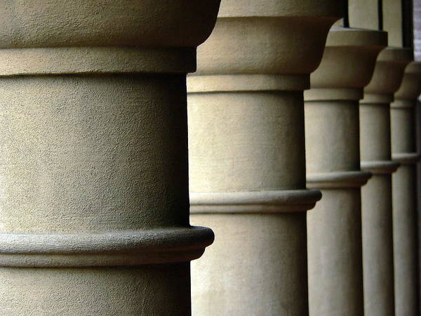Photograph - Building Columns  by Jeff Lowe