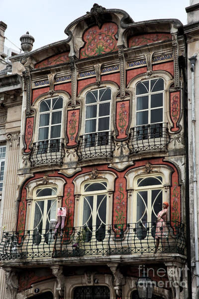 Photograph - Building Designs In Aveiro by John Rizzuto