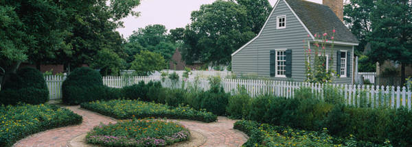 Colonial Williamsburg Photograph - Building In A Garden, Williamsburg by Panoramic Images