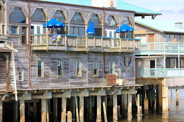Cedar Key Photograph - Building On Piles Above Water by Lorna Maza