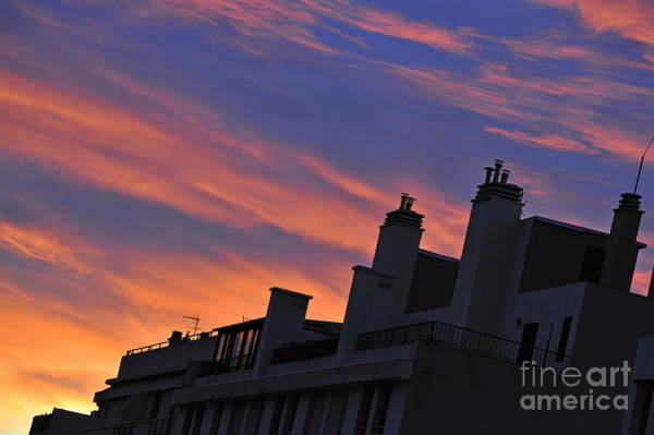 Wall Art - Photograph - Building Silhouette By Cloudscape At Sunrise by Sami Sarkis