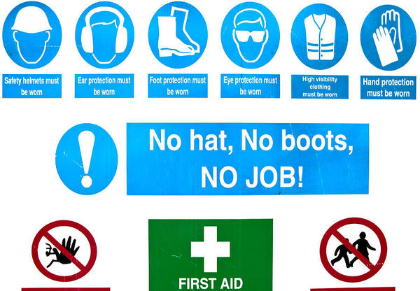 Protective Clothing Photograph - Building Site Safety by Tom Gowanlock