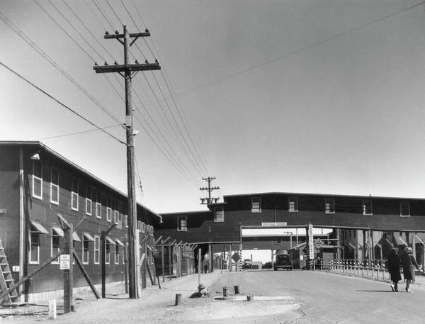Nuclear Bomb Wall Art - Photograph - Buildings At Los Alamos Laboratory In World War 2 by Los Alamos National Laboratory/science Photo Library