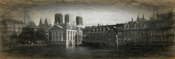 High Dynamic Range Imaging Photograph - Buildings At The Waterfront, Binnenhof by Panoramic Images