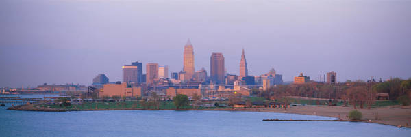 Cleveland Scene Photograph - Buildings At The Waterfront, Cleveland by Panoramic Images