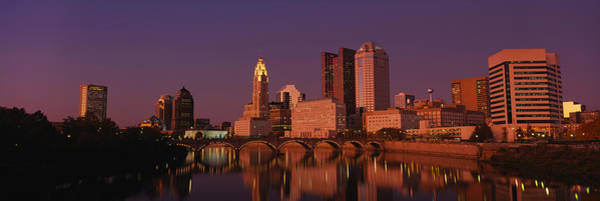 Scioto Photograph - Buildings At The Waterfront, Columbus by Panoramic Images
