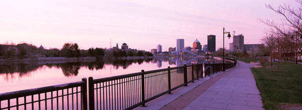 Genesee Photograph - Buildings At The Waterfront, Genesee by Panoramic Images