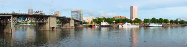Willamette Photograph - Buildings At The Waterfront, Morrison by Panoramic Images
