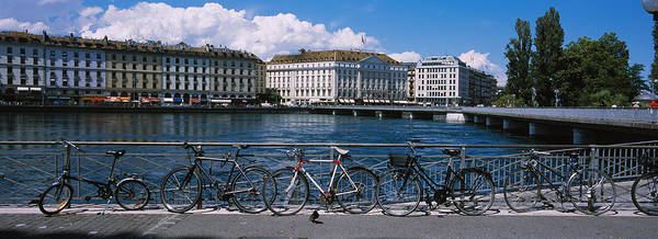Rhone River Photograph - Buildings At The Waterfront, Rhone by Panoramic Images
