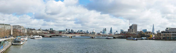 Wall Art - Photograph - Buildings At The Waterfront, Thames by Panoramic Images