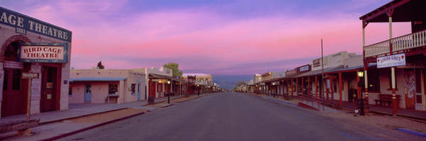 Tombstone Arizona Photograph - Buildings Both Side Of Street by Panoramic Images
