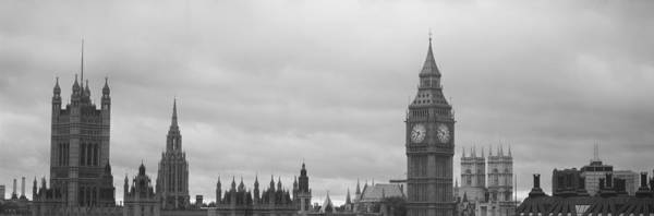 Houses Of Parliament Wall Art - Photograph - Buildings In A City, Big Ben, Houses Of by Panoramic Images