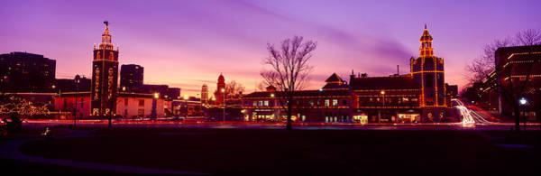 Country Club Plaza Photograph - Buildings In A City, Country Club by Panoramic Images