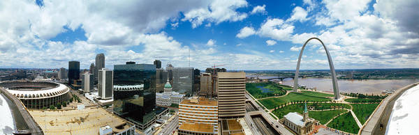 Courthouse Towers Wall Art - Photograph - Buildings In A City, Gateway Arch, St by Panoramic Images