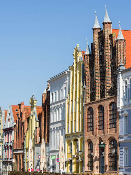 Brick Gothic Photograph - Buildings Lining The Alte Markt (old by Martin Zwick