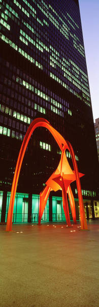 Shopping Districts Wall Art - Photograph - Buildings Lit Up At Night, Flamingo by Panoramic Images