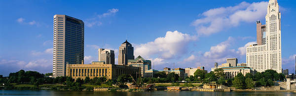 Scioto Photograph - Buildings On The Banks Of A River by Panoramic Images