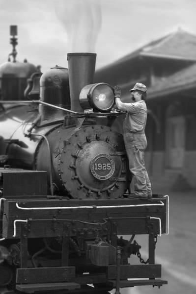 Railroad Station Photograph - Bulb Change by Mike McGlothlen
