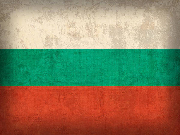 Nation Mixed Media - Bulgaria Flag Vintage Distressed Finish by Design Turnpike