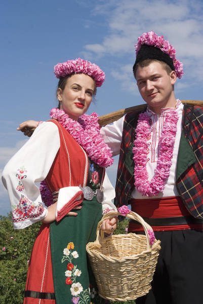 Photograph - Bulgaria Lady And Bulgarian Man In Traditional Costume Dress  by Cliff Norton