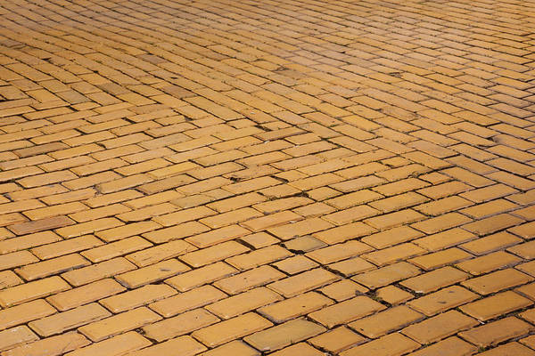 Yellow Brick Road Wall Art - Photograph - Bulgaria, Sofia, Ploshtad Narodno by Walter Bibikow