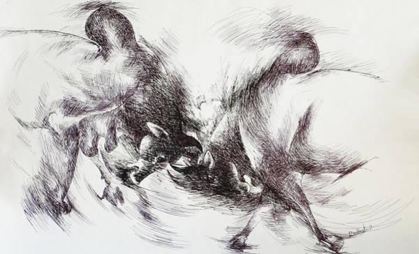 Mumbai Painting - Bull-3 by Bhanu Dudhat