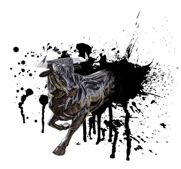 Wall Art - Digital Art - Bull Breakout by Daniel Hagerman