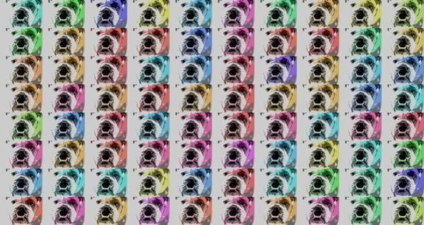 Wall Art - Digital Art - Bulldog Pop Art Collage by Dan Sproul