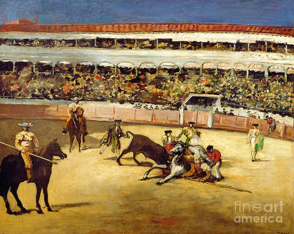 Wall Art - Painting - Bull Fight by Edouard Manet