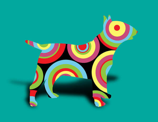 Wall Art - Digital Art - Bull Terrier by Mark Ashkenazi