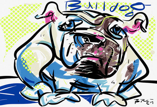 Mutt Drawing - Bulldog by Brett LaGue