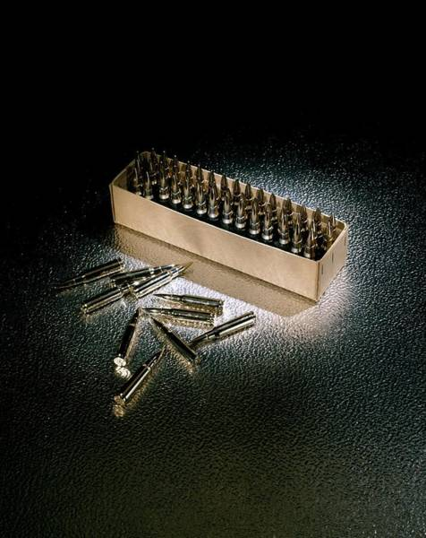 Ammo Photograph - Bullet Cartridges by Patrick Llewelyn-davies/science Photo Library