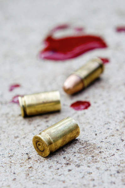 Casing Wall Art - Photograph - Bullet Casing And Bullet by Jim Varney/science Photo Library