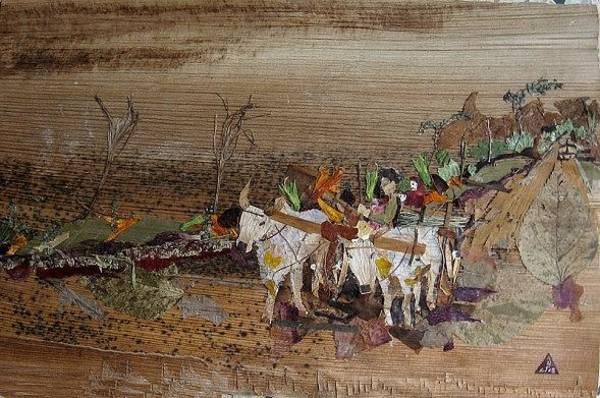 Eco Friendly Mixed Media - Bullock Cart On Cross Country Road  by Basant Soni