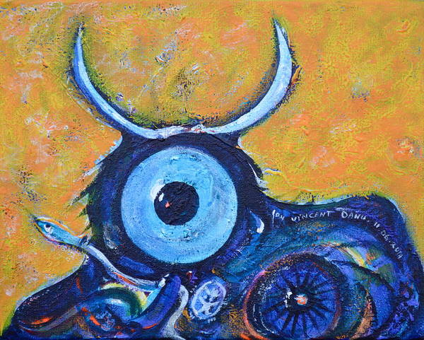 Torro Painting - Bull's Eye by Ion vincent DAnu