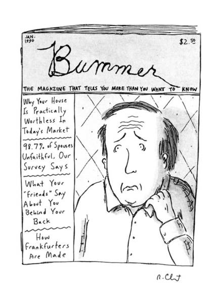 January 1st Drawing - Bummer Magazine by Roz Chast