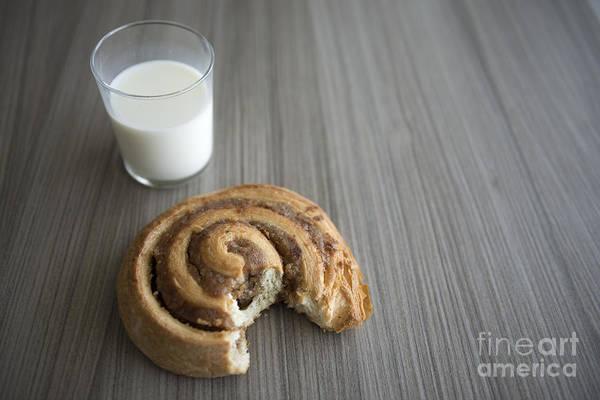 Cinnamon Buns Photograph - Bun And Milk by Mats Silvan