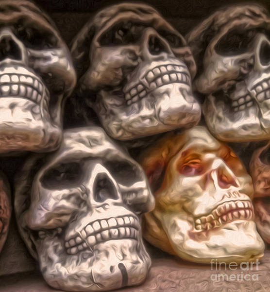 Painting - Bunch O Skullz by Gregory Dyer