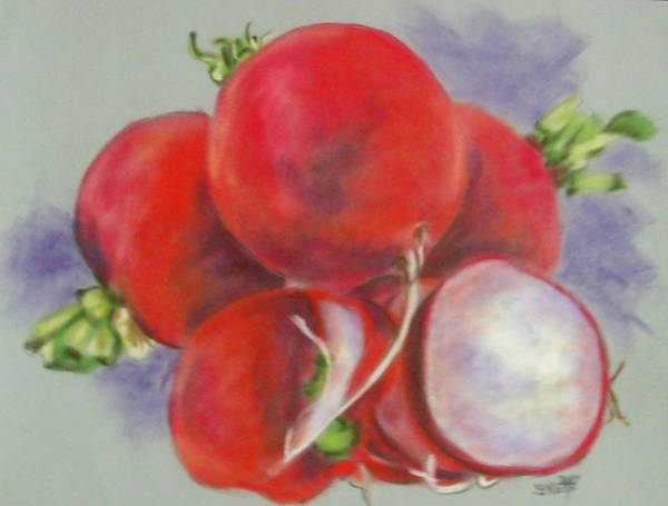 Pastel - Bunches by Barbara Keith