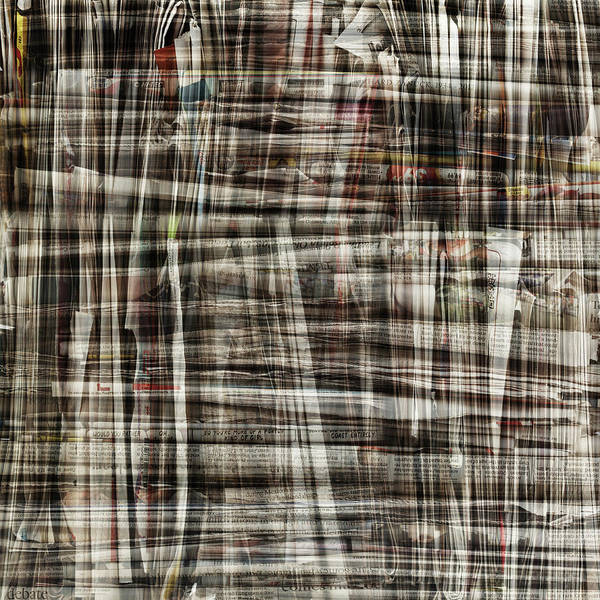 Newspaper Photograph - Bundle Of Newspapers Layered by Paul Taylor