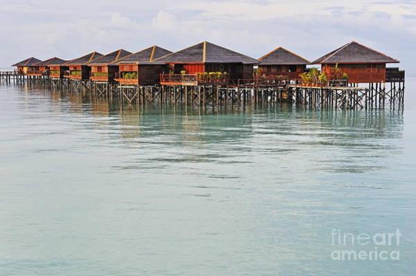 Wall Art - Photograph - Bungalow Resort On Lagoon by Sami Sarkis