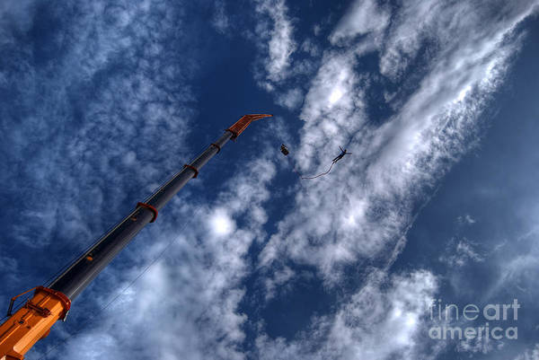 Free Dive Wall Art - Photograph - Bungee Jumper Hdr by Antony McAulay