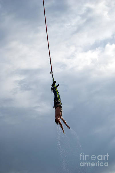 Free Dive Wall Art - Photograph - Bungee Jumper Soaked by Antony McAulay