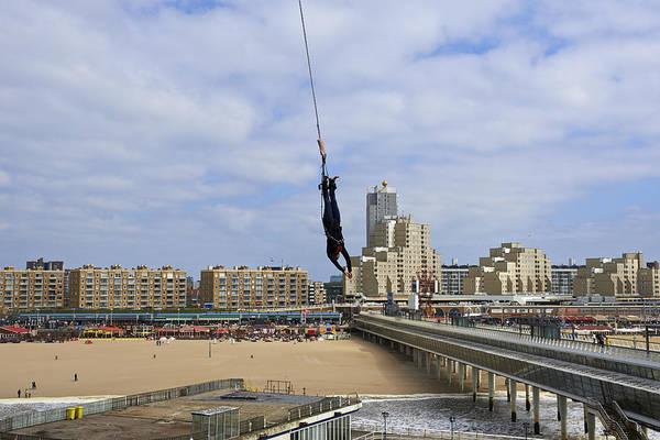 Scheveningen Pier Photograph - Bungee Jumping From The Pier Scheveningen The Hague The Netherlands by Petr Bonek