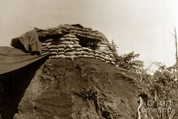 Photograph - Bunker Above The Dak Poko River Near Dak To Kontum Province Vietnam 1968 by California Views Archives Mr Pat Hathaway Archives
