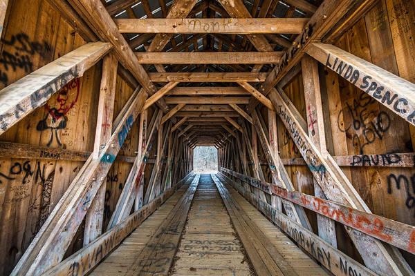 Photograph - Bunker Hill Covered Bridge 2 by Randy Scherkenbach