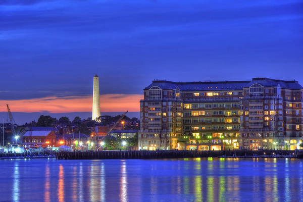 Photograph - Bunker Hill Monument And Flagship Wharf by Joann Vitali