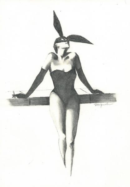 Fashion Drawing - Bunny by Gabriella Miguel