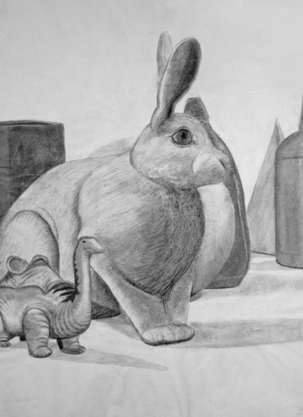 Drawing - Bunny by M Valeriano